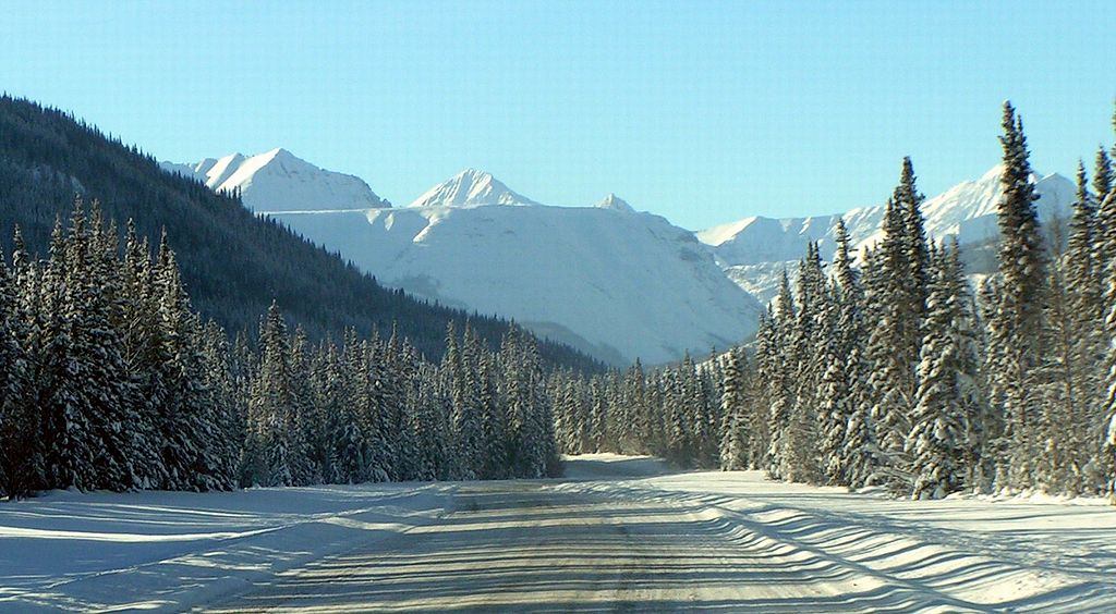 Muskwa Mountains on the Alaska Highway